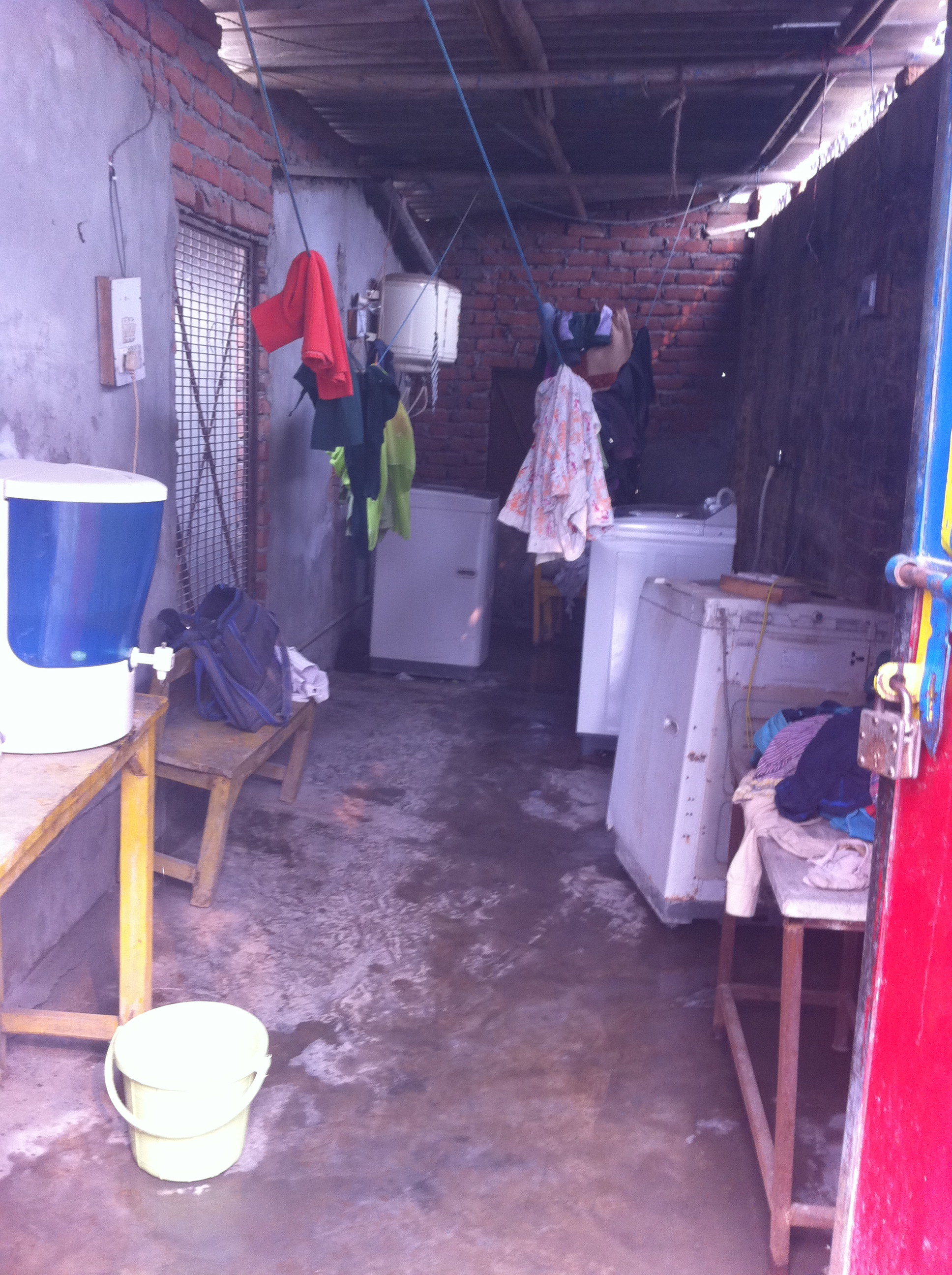 A photo of the laundry at our Delhi Home