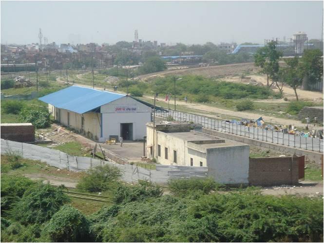 Our Delhi centre taken from high up on Mansarovar Park Metro Station